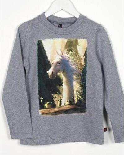 Marškinėliai su arkliuku Dominyku, pilki