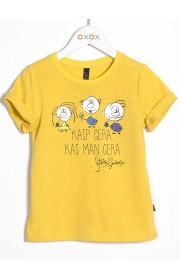 """Marškinėliai """"Kaip gera, kai man gera"""", geltoni"""